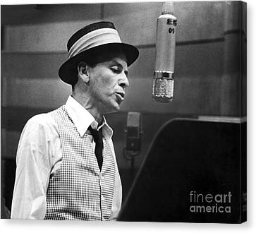 Frank Sinatra - Capitol Records Recording Studio Canvas Print by The Titanic Project
