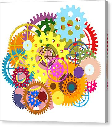 Gears Wheels Design  Canvas Print by Setsiri Silapasuwanchai
