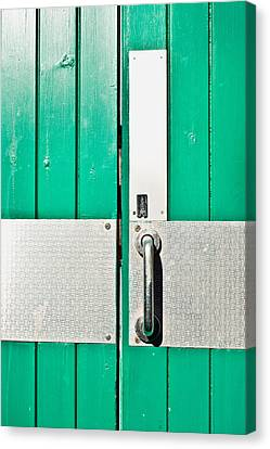 Green Door Canvas Print by Tom Gowanlock
