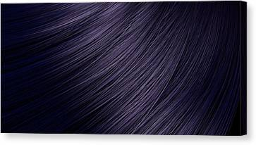 Hair Blowing Closeup Canvas Print