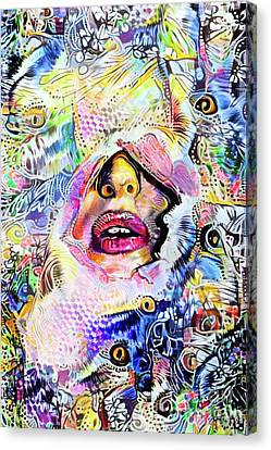 Hidden Face With Lipstick Canvas Print