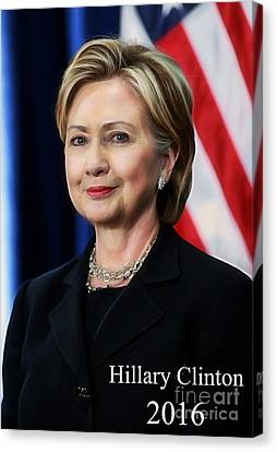 Hillary Clinton 2016 Collection Canvas Print by Marvin Blaine