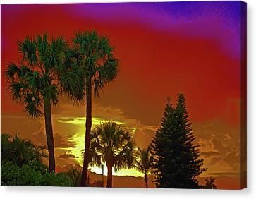 Canvas Print featuring the digital art 7- Holiday by Joseph Keane