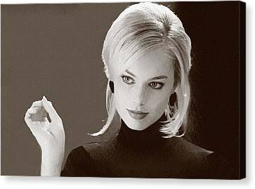 Hollywood Star Margot Robbie Canvas Print by Best Actors