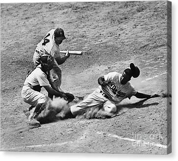 Slide Canvas Print - Jackie Robinson (1919-1972) by Granger