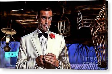James Bond Canvas Print - James Bond Collection by Marvin Blaine