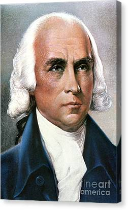 James Madison (1751-1836) Canvas Print by Granger