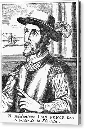 Juan Ponce De Leon Canvas Print by Granger