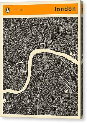 London Map Canvas Print by Jazzberry Blue