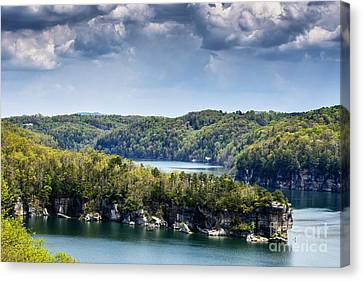 Nicholas County Canvas Print - Long Point Summersville Lake by Thomas R Fletcher