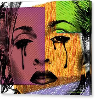 Beautiful Woman Face Canvas Print - Madonna  by Mark Ashkenazi