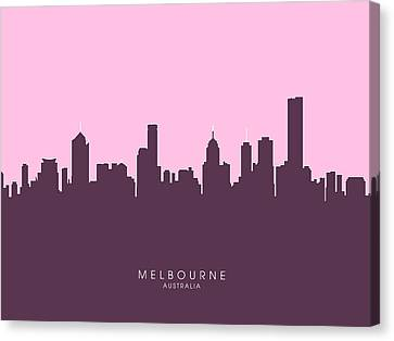 Melbourne Skyline Canvas Print by Michael Tompsett