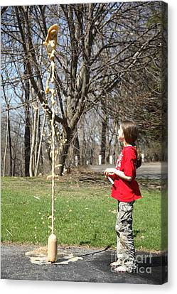 Mentos And Soda Reaction Canvas Print by Ted Kinsman