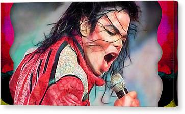 Michael Canvas Print - Michael Jackson Collection by Marvin Blaine