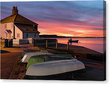 Canvas Print - Mudeford Quay - England by Joana Kruse