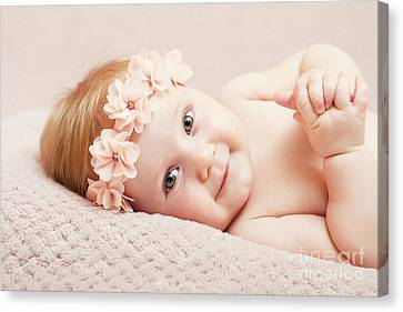 Newborn Fine Portrait Canvas Print