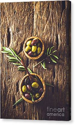 Olives On Branch Canvas Print