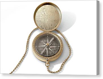 Ornate Pocket Compass Canvas Print by Allan Swart