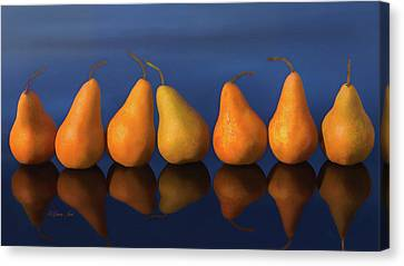 7 Pears Reflection  Canvas Print