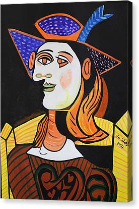 Hair Net  Picasso Canvas Print