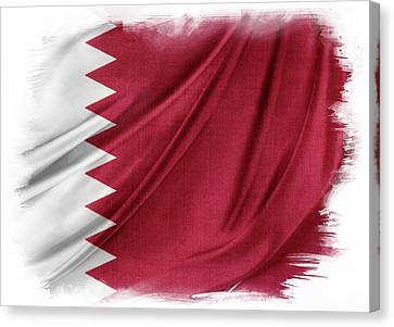 Qatar Flag Canvas Print by Les Cunliffe