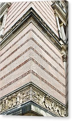 Gothic Germany Canvas Print - Red Brick Building by Tom Gowanlock