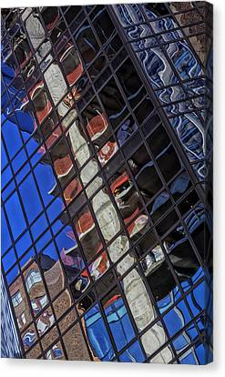 Reflective Glass Architecture Canvas Print by Robert Ullmann