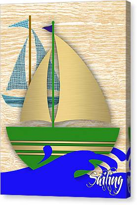 Sailing Collection Canvas Print by Marvin Blaine