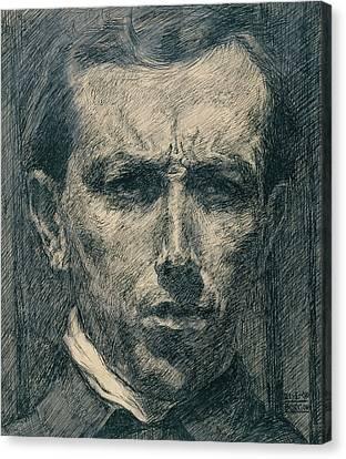 Boccioni Canvas Print - Self-portrait by Umberto Boccioni