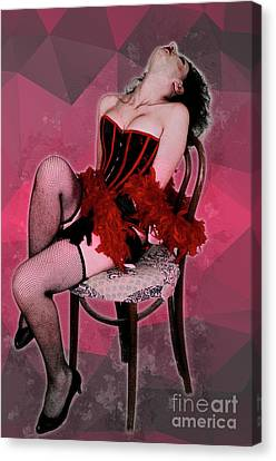 Sexy Woman In Corset  Canvas Print