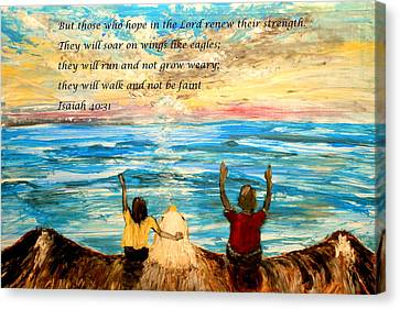Soar On Wings Like Eagles... Canvas Print by Amanda Dinan