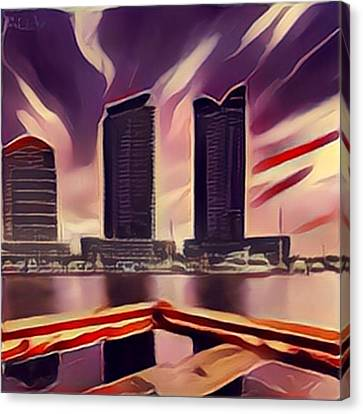 South Wharf, Docklands, Melbourne, Victoria, Australia Canvas Print by GabyDuval Image and Design