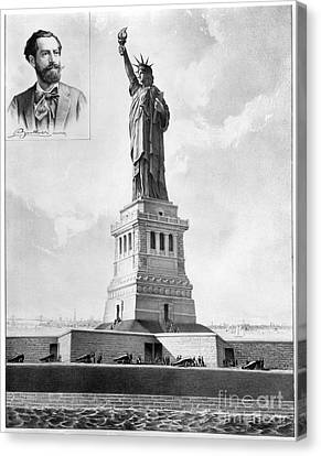 Statue Of Liberty, 1886 Canvas Print by Granger