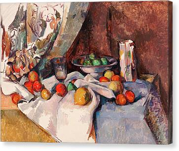 Still Life With Apples Canvas Print by Paul Cezanne