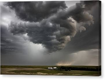 Storm Clouds Prairie Sky Canvas Print by Mark Duffy