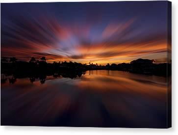 Sunrise At Naples, Florida Canvas Print