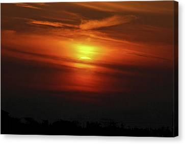 Canvas Print featuring the photograph 7- Sunset by Joseph Keane