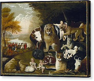 The Peaceable Kingdom Canvas Print by MotionAge Designs