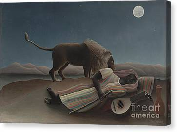 The Sleeping Gypsy Canvas Print by Henri Rousseau