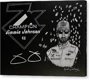 7 Time Champion Canvas Print
