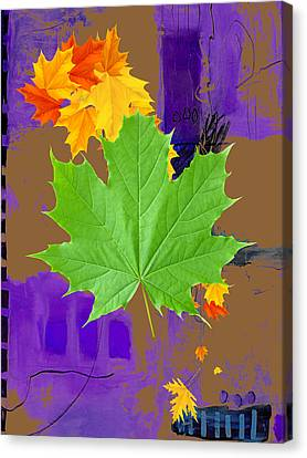 Tree Leaves Art Canvas Print