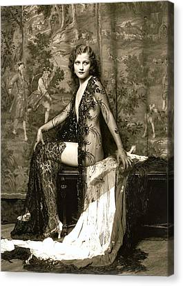 Vintage Nude Postcard Image Canvas Print by Unknown
