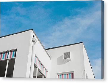 White Building Canvas Print by Tom Gowanlock