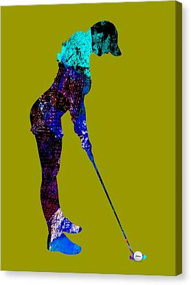 Womens Golf Collection Canvas Print by Marvin Blaine