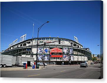 Wrigley Field - Chicago Cubs Canvas Print by Frank Romeo