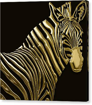 Zebra Collection Canvas Print by Marvin Blaine