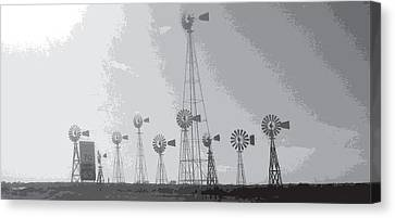 Canvas Print featuring the photograph 70/mph by Max Mullins