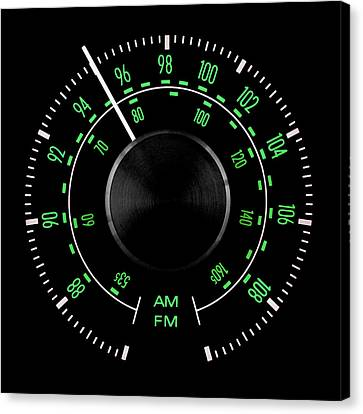 70s Fm Tuner Dial Canvas Print by Jim Hughes