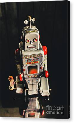 70s Mechanical Android Bot  Canvas Print by Jorgo Photography - Wall Art Gallery