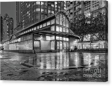 72nd Street Subway Station Bw Canvas Print by Jerry Fornarotto